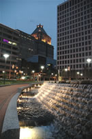 Evening in downtown Greensboro